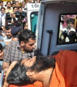 Yoga guru Baba Ram Dev, on a fast in Haridwar demanding government action against black money, being shifted to a hospital near Dehra Dun after his condition deteriorated on Friday. Photo: Virender Singh Negi , The Hindu