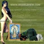 Picture One as an Pak Cricketer  bowed to Cricket Lord Sachin Tendulkar as depicted in the shape of Lord Vishnu (published in http://www.modelzview.com/2011/11/poonam-pandey-irked-with-her-morphed.html).
