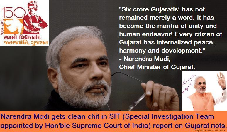 gujarat riots narendra modi Narendra modi runs a website that justifies gujarat riots (gujaratriotscom) through his it team mukul sinha and pratik sinha october 6, 2013 | 30 responses in the modern times, to carry out an organized religio-ethnic cleansing and then to get away despite the present day media.