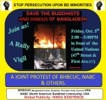 Protest persecution upon Bangladesh minorities
