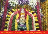 Beautiful flower Decoration of  Mata Bhagyalakshmi, 2012.
