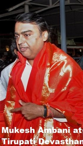 mukesh at tirupathi