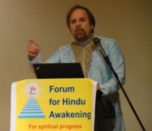 Dr Richard L. Benkin speaking in a public forum