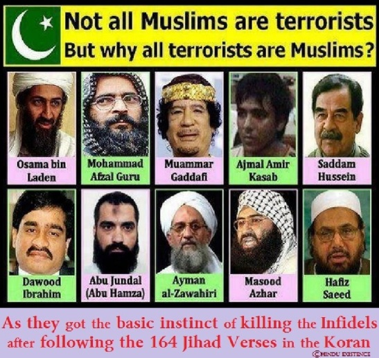 164 Jihad Verses in the Quran -- Passages in the Quran about Islamic Un-Holy War. The causes of Islamic Brutality and Terrorism.