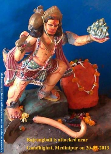 Bajrangbali attacked in Medinipur