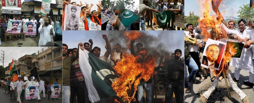 Pakistan Murdabad. Outrage in India over Sarabjit's death.