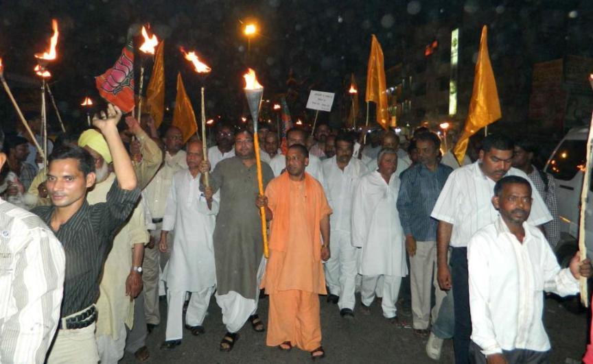 Rally agaist Terrorism in Gorakhpur.