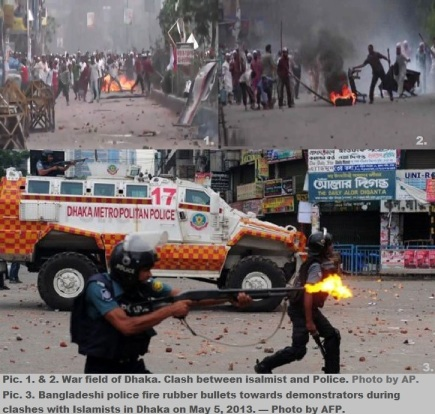 War Field of Dhaka. Islamists vs BD Police