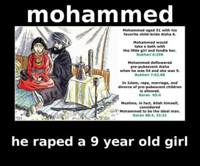 Muhammad the Pedophile raped Ayesha at her 9 years. Majid only followed him.