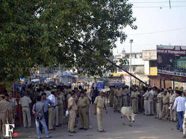 Heavy Police deployed in Ayodhya on Sunday. Danish Raza/ Firstpost
