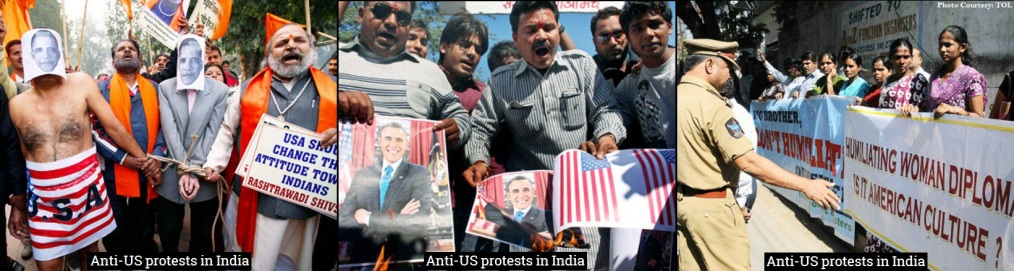 Anti US Protests in India.