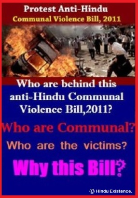 Protest anti Hindu Communal Violence Bill 2011