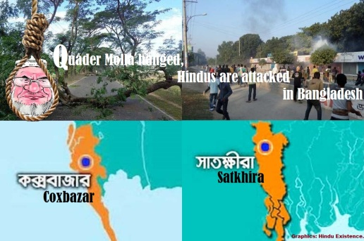 Quader Molla hanged. BD minorities attacked again.