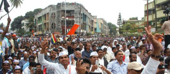 Mammoth protest against Morba slaughterhouse by 25,000 Hindus