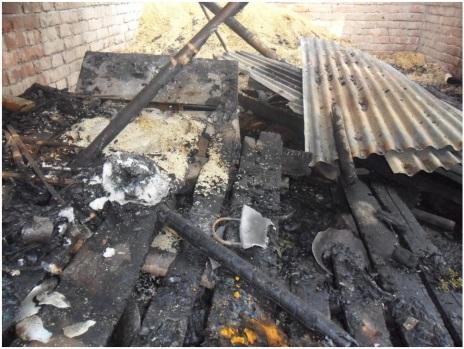 BD Dinajpur torching on Hindu Houses
