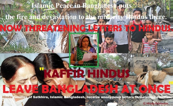 Hindu Kaffirs, Leave Bangladesh - Islamists send anonymous letters.