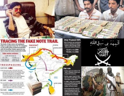 Counterfeit Mony Jihad in India by Islamic Terror Groups