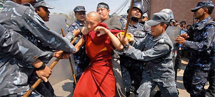 Chinese intolerance against Buddhists.