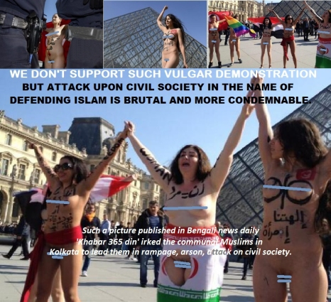 Bare naked Protest against Islam