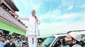 Imran Masood addressing a gathering in Saharanpur. Pic: Archive.