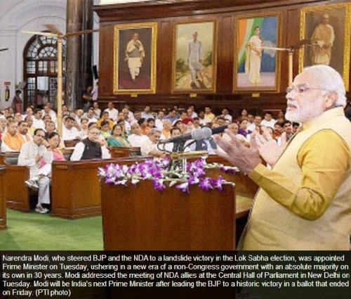 Modi in Indian Parliament