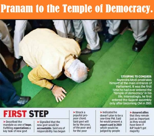 Pranam to the Temple of Democracy