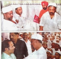 Mukul Roy of TMC and Adhir Ranjan Chowdhury of Congress with Islamist Twaha Siddique of Furfura Sharif.