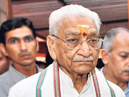 Ashok Singhal has been the supremo of Vishwa Hindu Parishad and one of the longest serving senior Rashtriya Swayamsevak Sangh (RSS) leaders. (HT photo)