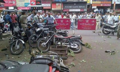 Site of the blast. (Photo Courtesy: Deccan Chronicle).