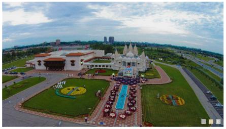 BAPS, Bochasanwasi Akshar Purushottam Swaminarayan Sanstha (BAPS) Shri Swaminarayan temple, New Jersey, Robbinsville, World's Largest Hindu Temple in New Jersey