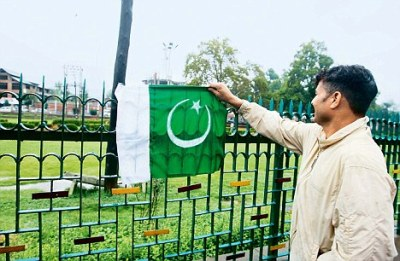 Pak Flag at Srinagar Lal Chowk