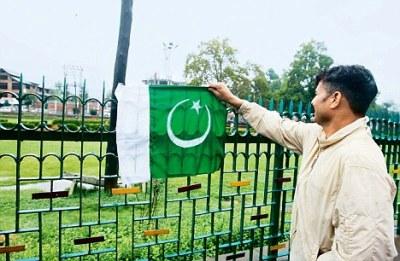 Pak Flag at Srinagar Lal Chowk