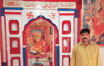 Javed Bhatti, a custodian of Maharishi Walmeck Sawami Jee temple, in Rawalpindi.
