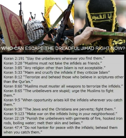 Quran Hate Preaching is the sole cause of Jihad and intolerance.
