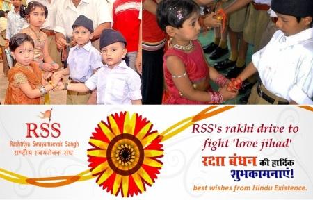 RSS's Rakhi Drive to fight 'Love Jihad'.
