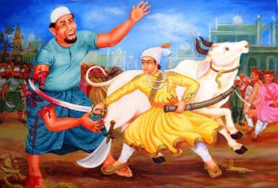 Shivai Maharaj saves Gaumata from Mulla buthchers