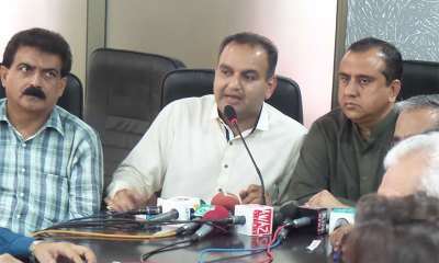 Member National Assembly Dr Ramesh Kumar Vankwani addressing a press conference to condemn the increase in number of crimes against minorities. -Press release photo. Source: Dawn.