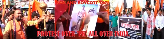 protest over pk all over india