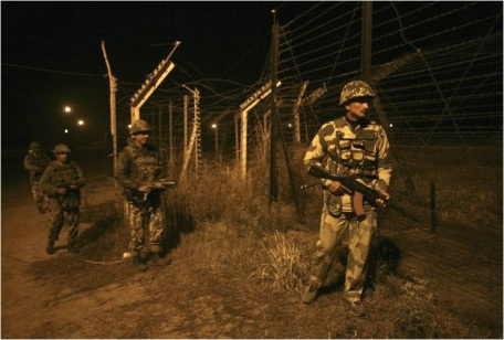 A file photo of Indian jawans on patrol at the Line of Control.