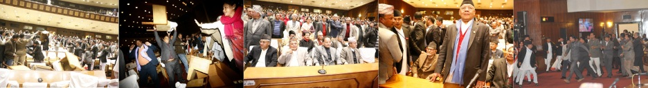 Maoists Lawmakers are seen to organise a Peace Process in the Constituent Assembly in Nepal to avert a Hindu State in Nepal. Photo Courtesy: Republica.