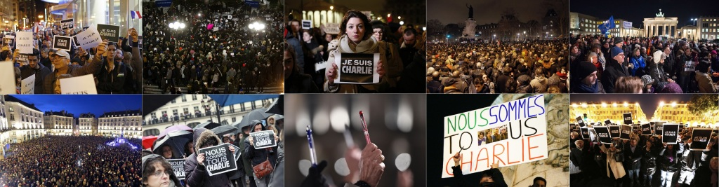World wide - JeSuisCharlie rallies - Charlie Hebdo attack Protest