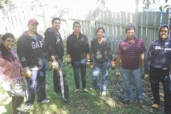 Members of the Hindu American Foundation's Northern California chapter help clean gardens at Oakland Zoo. (Photo courtesy Bhumi Project)/ ENS.