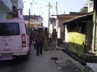 Rasulpur (Ghorakhpur) still tensed after Hindu Muslim clash in Holi.