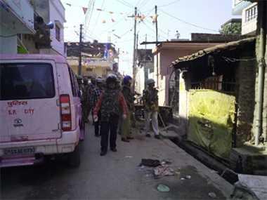 Rasulpur (Ghorakhpur) still tensed after Hindu Muslim clash in Holi.
