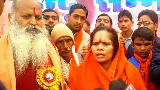 """Our children do not get right samskars from the movies of the Khans. They promote love jihad,"" Sadhvi Prachi said. (Photo: Sadhvi Prachi's Facebook Page)"