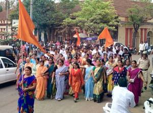 Hindu Protests are on at Belagavi.