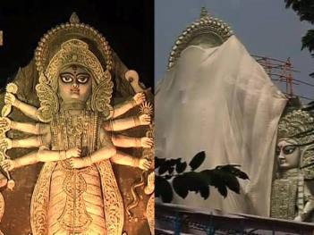 The Deshapriya Park Durga Puja was stopped by Mamata Banerjee and Kolkata Police.