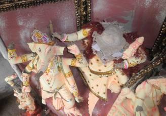 Durga Idol destruction in Pratabnagar Union. Photo. BDMW.