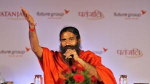 Yoga Guru Baba Ramdev has said that PMModi should impose nationwide ban on cow slaughter. (Arun Sharma / Hindustan Times).