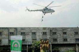 NSG conducts mock drill at factory on BT Road in Kolkata. (TOI photo).